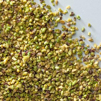 farina e granella di pistacchi